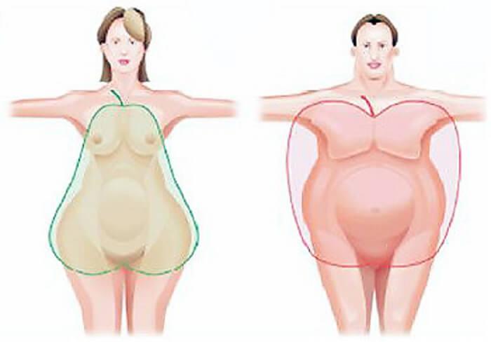 почему у мужчин происходит ожирение по женскому типу