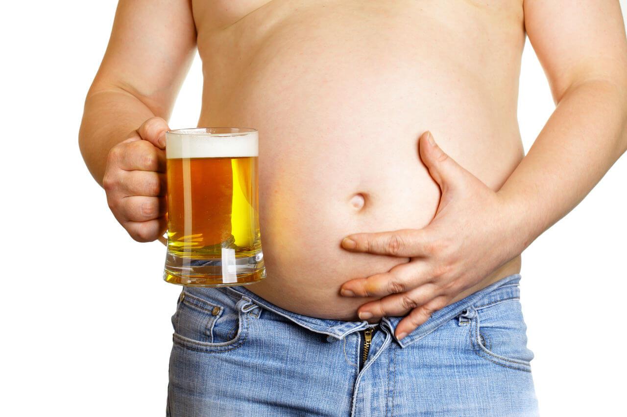как пиво влияет на фигуру мужчины
