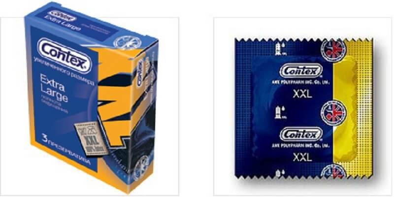 Extra Large вид презервативов контекс