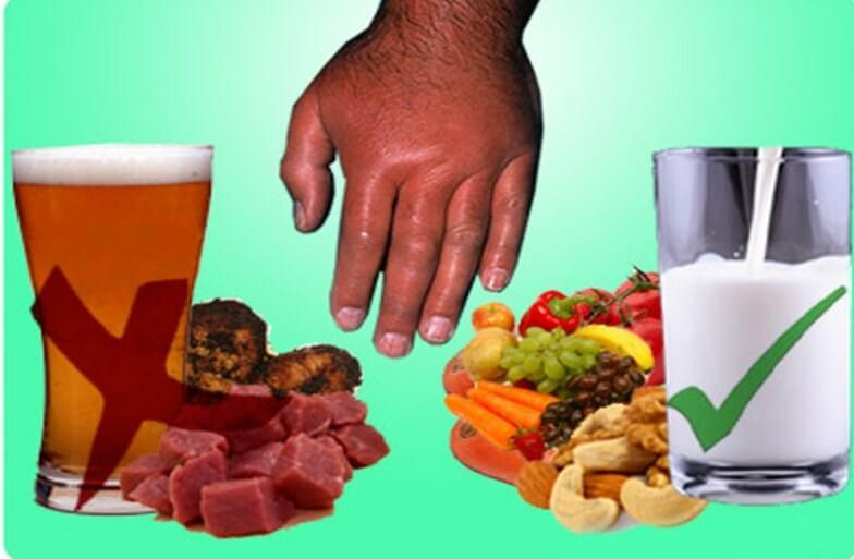 Принципы диеты при криптите